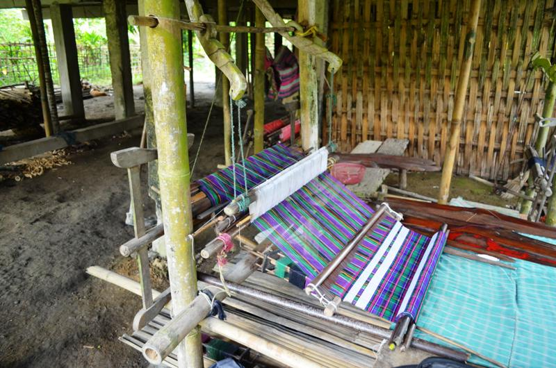 view of the strap loom