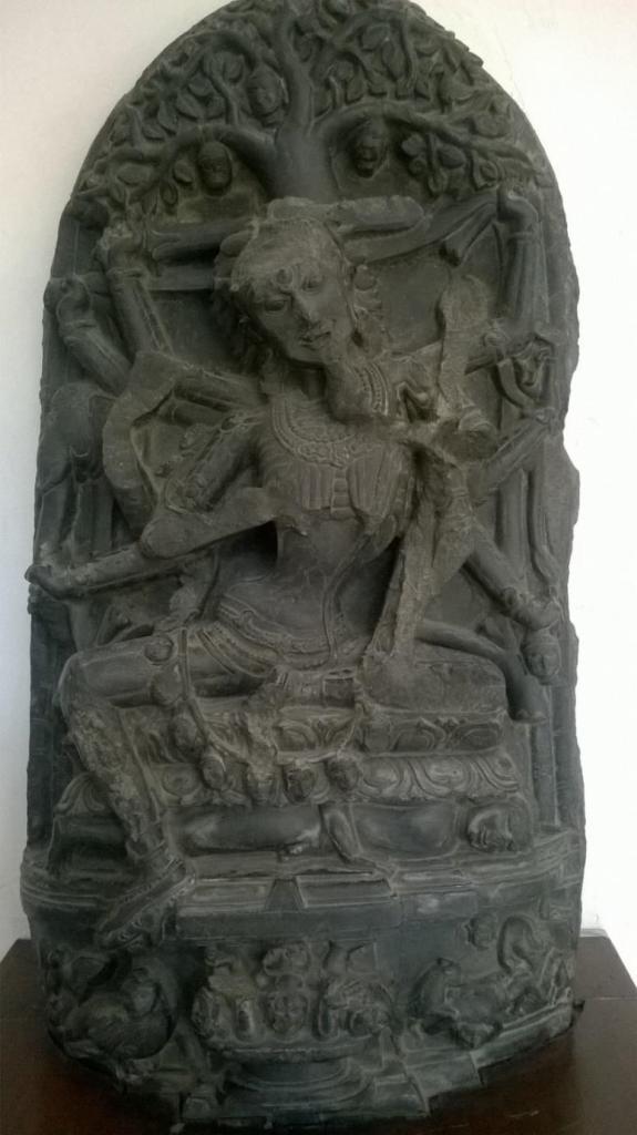 Cāmundā sitting on a Cosmic Lotus