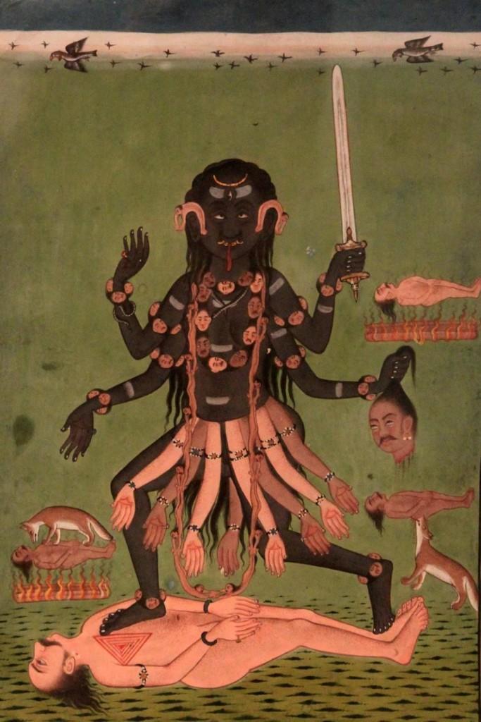 Dakşiņā Kāli, Mandi School, 16th century. Collection of National Museum, New Delhi.