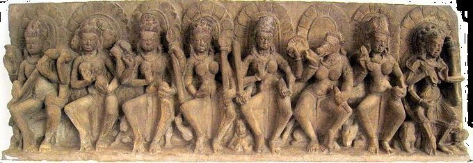 Saptamatŗkā Panel, Collection of National Museum, New Delhi